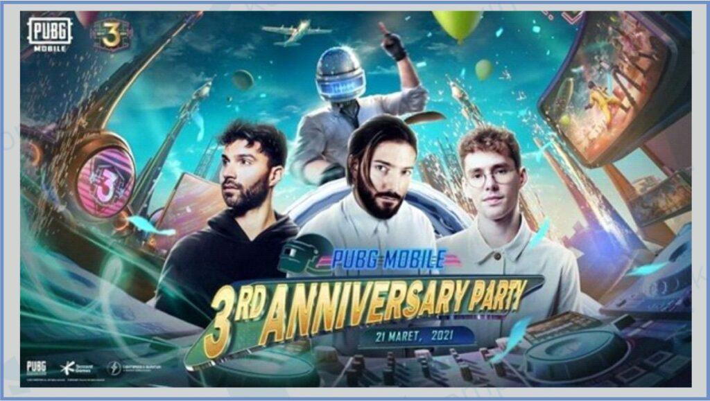 Poster PUBG 3rd Anniversary - Cara Memasukkan Kode Redeem PUBG 3rd Anniversary