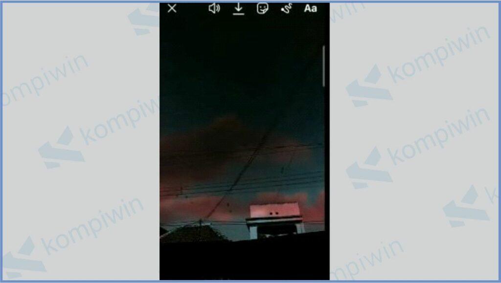 Story dengan Langit Berubah - Cara Menggunakan Filter IG Langit Berubah