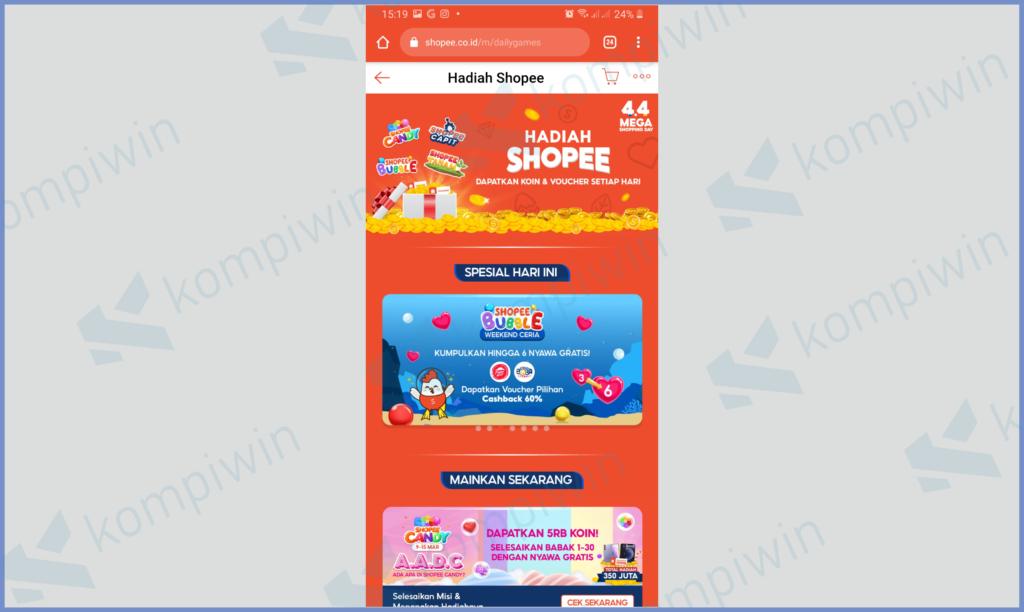 Website Shopee Game