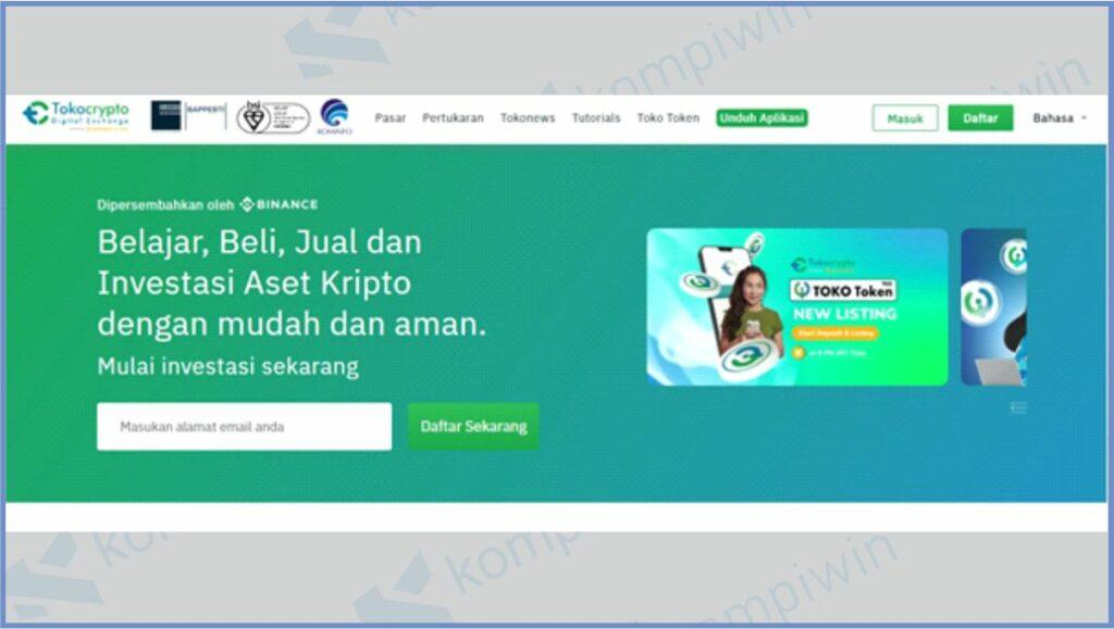 Buka Situs Tokocrypto - Cara Withdraw Tokocrypto