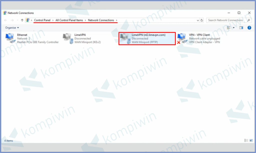 Buka VPN Yang Error