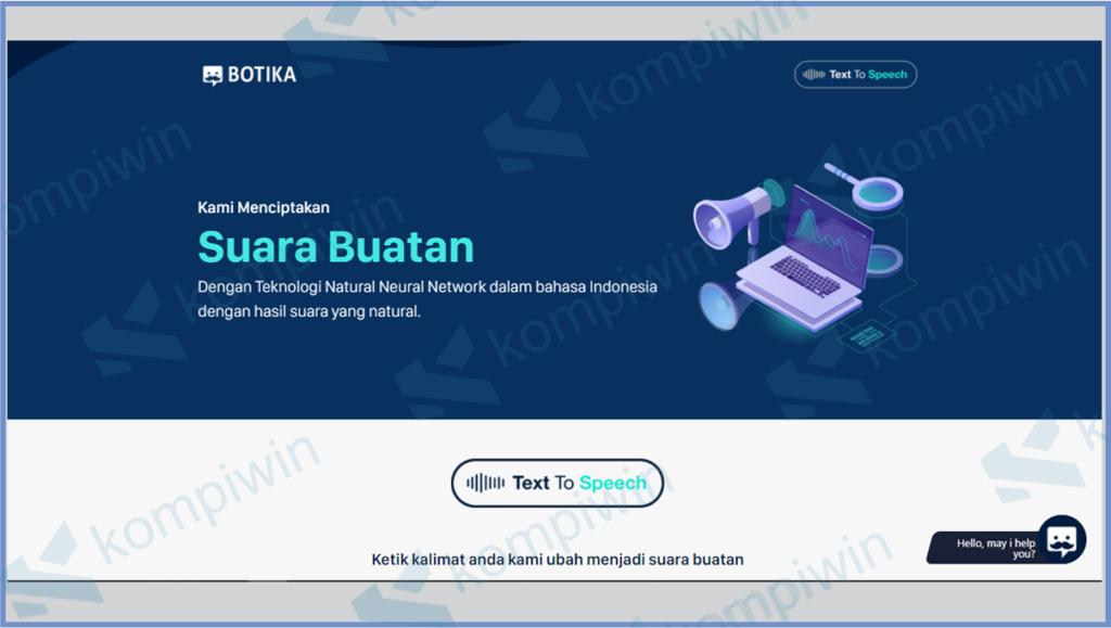 Botika Text Speech To Whatsapp