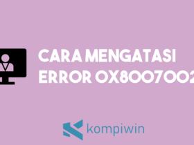 Cara Mengatasi Error 0x80070020 13