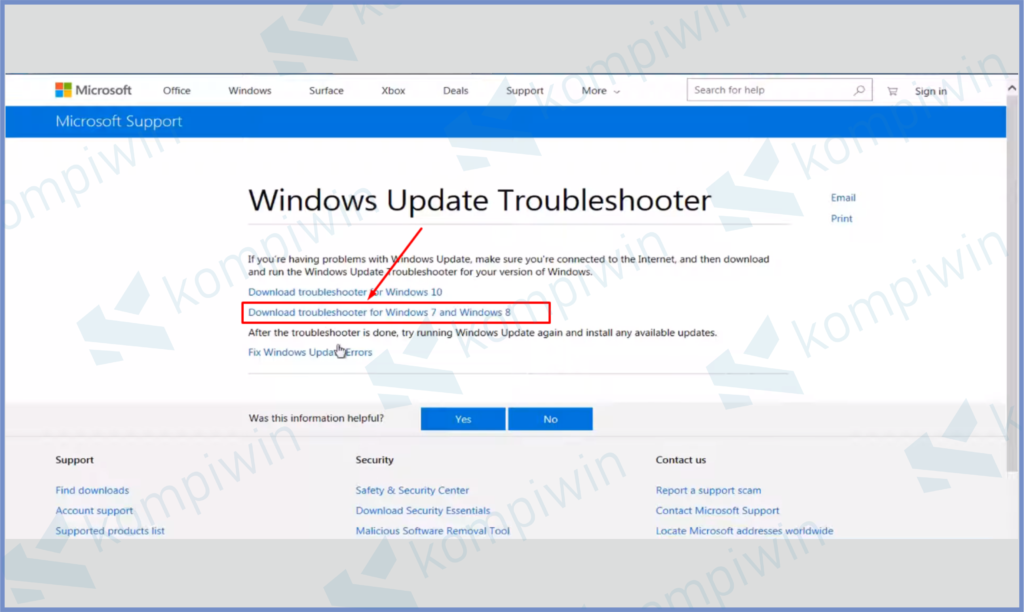 Donwload Troubleshooter