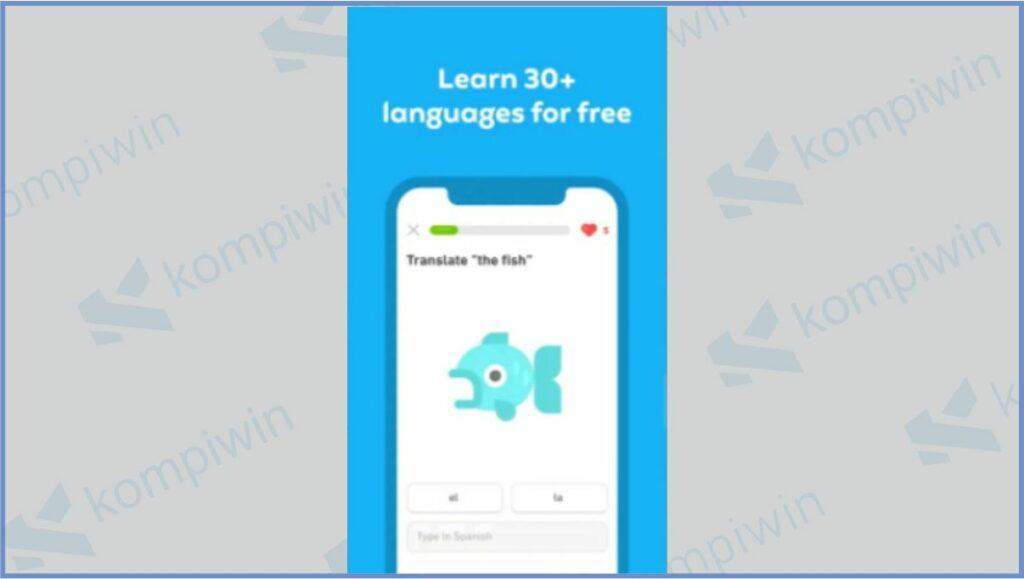 Duolingo - Aplikasi Belajar Bahasa Inggris Gratis