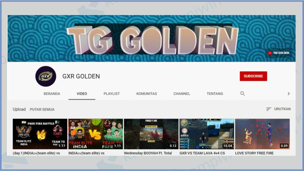 GXR Golden - Rusher Terkuat Free Fire