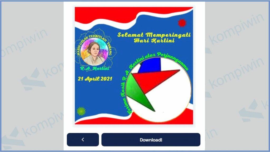 Klik Download Jika Sudah Selesai Mengedit - Cara Mendapatkan Twibbon Hari Kartini