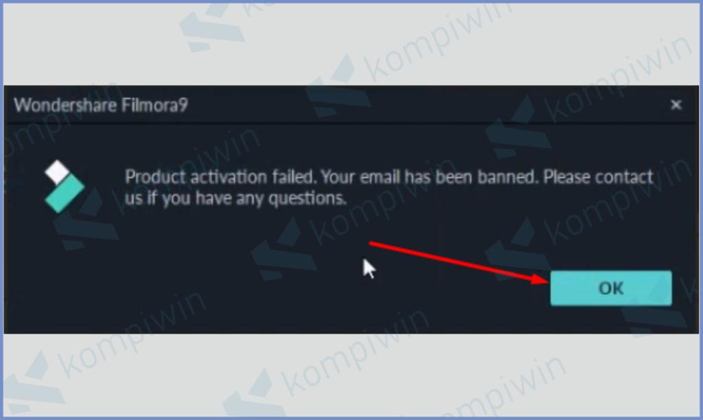 Notifikasi Pesan Error