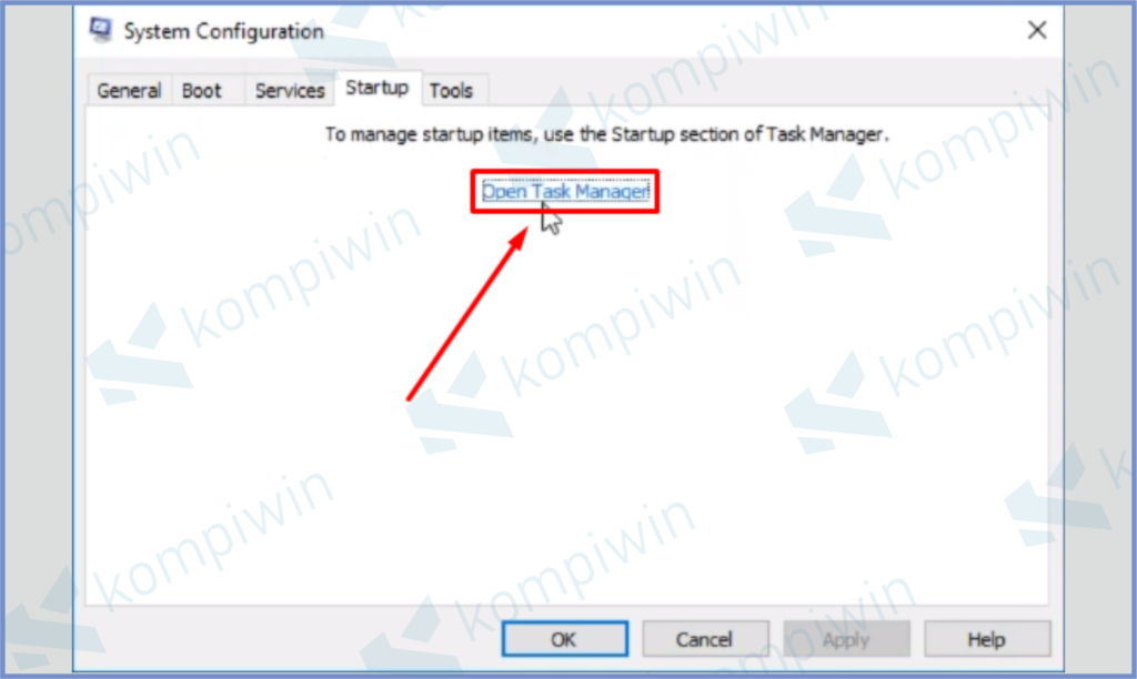 Pencet Open Task Manager