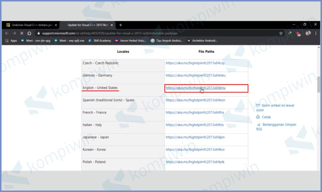 Pilih Bahasa Lalu Download Link