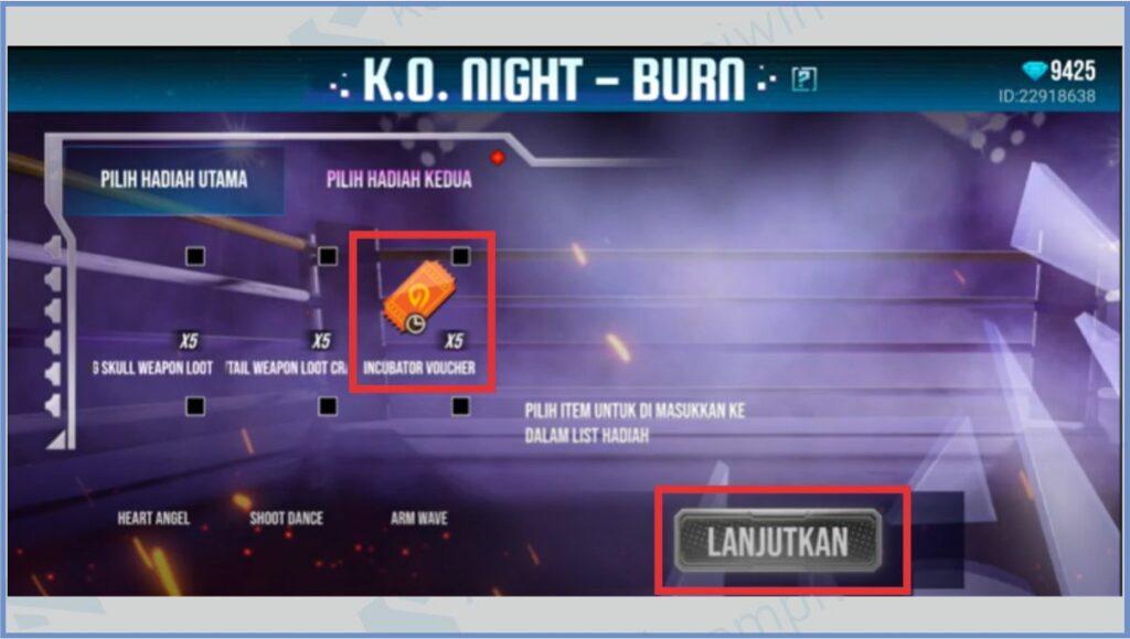 Pilih Hadiah Kedua - Bundle King Boxer FF 2021