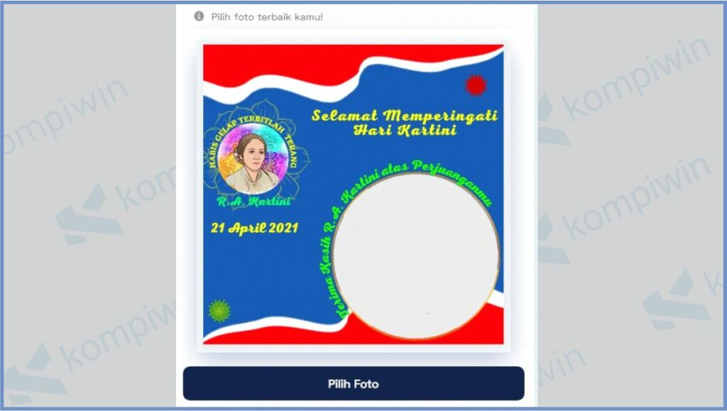 Pilih Twibbon Hari Kartini - Cara Mendapatkan Twibbon Hari Kartini