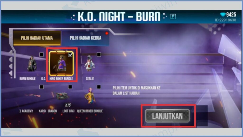 Pilin King Boxer Bundle Yang Diinginkan - Bundle King Boxer FF 2021