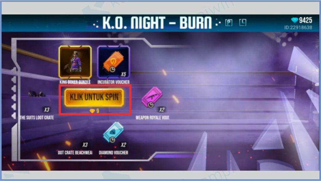 Tap Klik Untuk Spin - Bundle King Boxer FF 2021