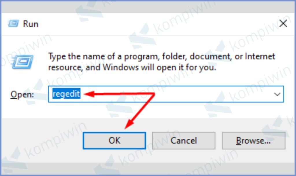 Tap Windows R Dan Ketik Regedit