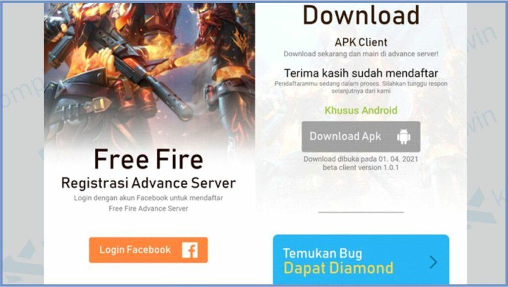 Tunggu Kode Aktivasi - Kode Aktivasi Advance Server FF (Free Fire)