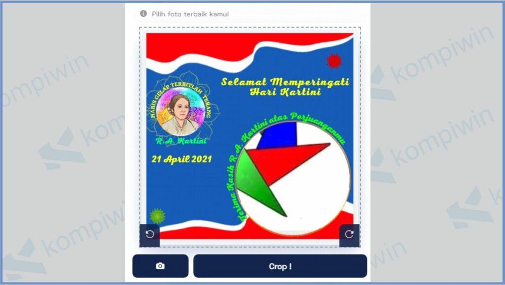 Upload Foto Dan Posisikan Sesuai Twibbon - Cara Mendapatkan Twibbon Hari Kartini