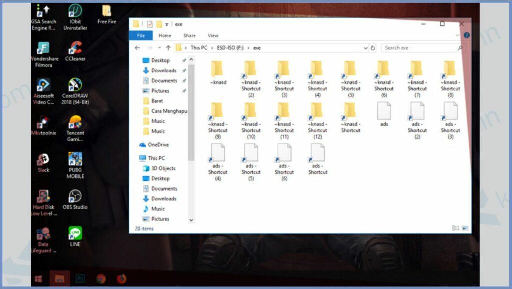Virus Shortcut Windows 10 - Cara Menghilangkan Virus Shortcut