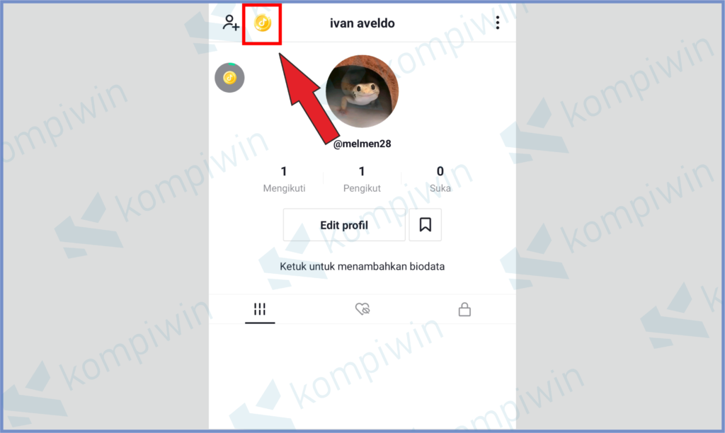 Ketuk Icon Koin Yang Ada Di Pojok Kanan Atas