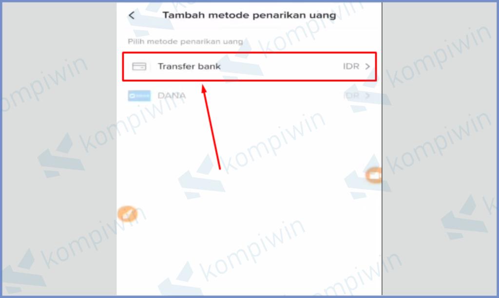Ketuk Tombol Transfer Bank