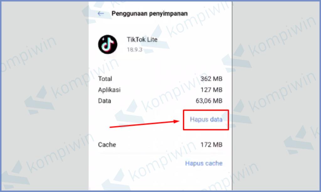 Klik Tombol Hapus Data
