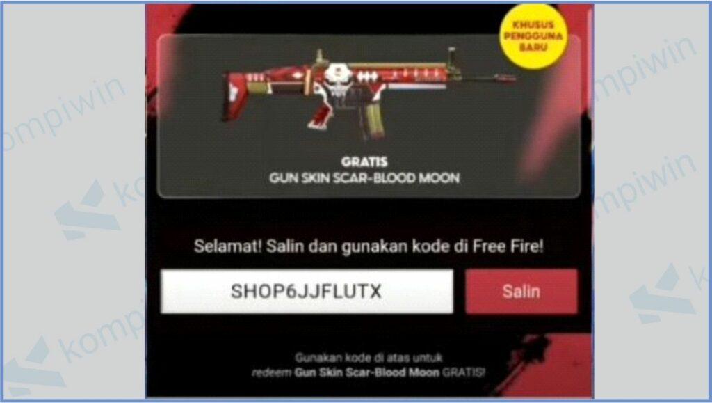 Kode Redeem Didapatkan - Kode Redeem FF Scar Blood Moon 2021