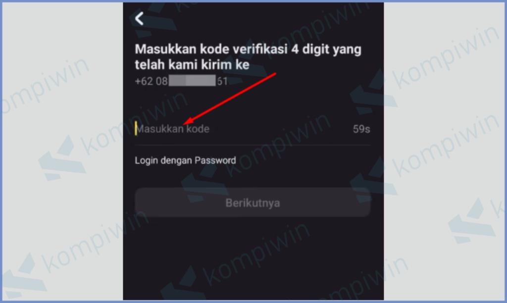 Masukkan Kode OTP Yang Dikirim