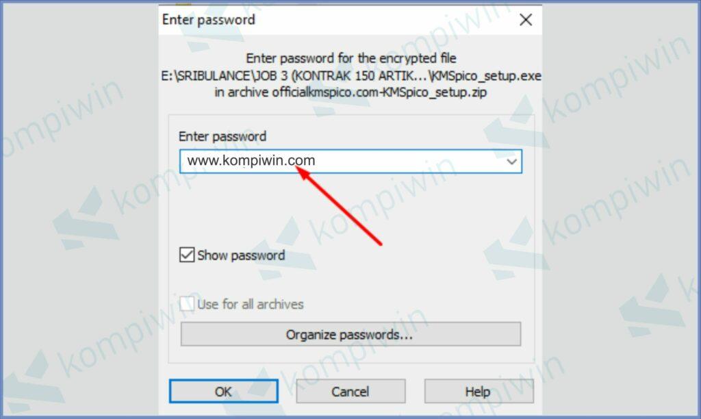 Masukkan Password KMSPico - Cara Aktivasi Windows-7