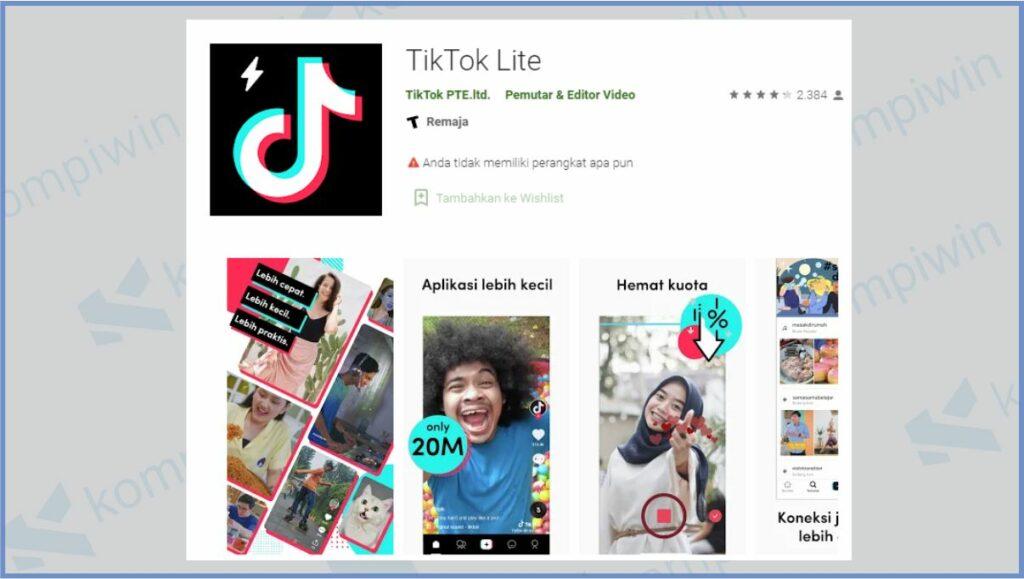 TikTok Lite Sudah Hadir di Playstore - Amankah Menggunakan TikTok Lite