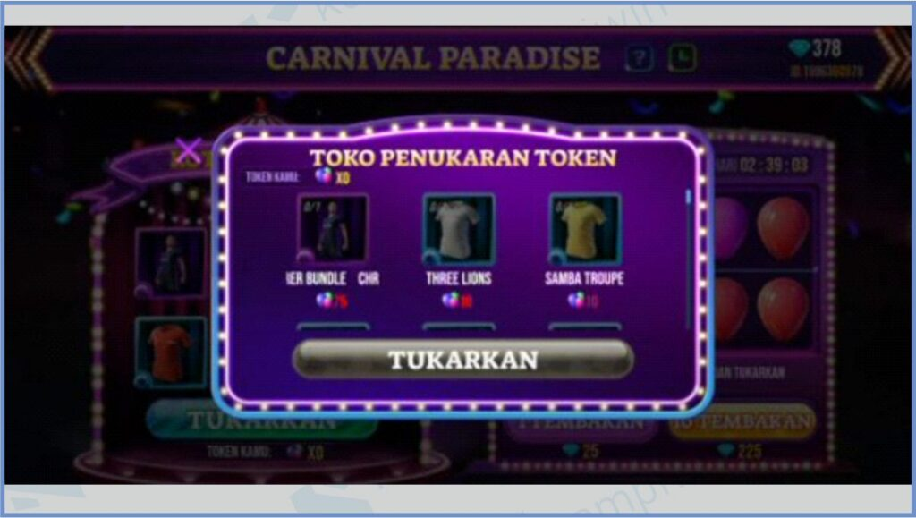 Tukarkan Chrono Top Scorer - Carnival Paradise Free Fire