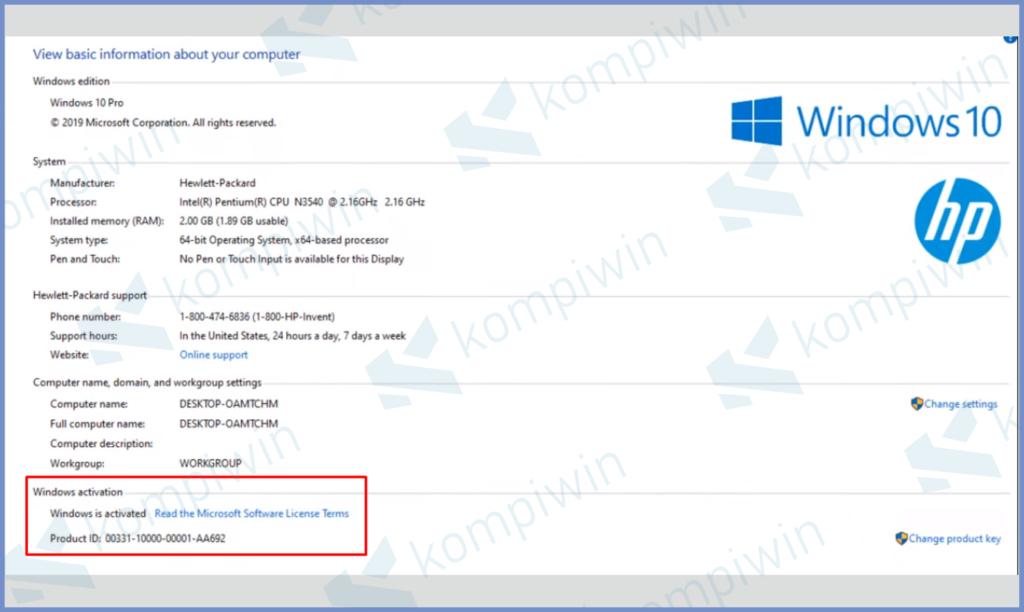 Windows Sudah Aktif