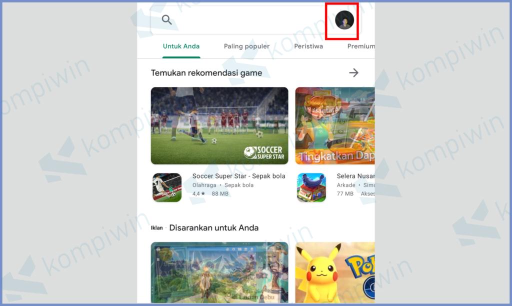 Klik Icon Foto Profil Play Store