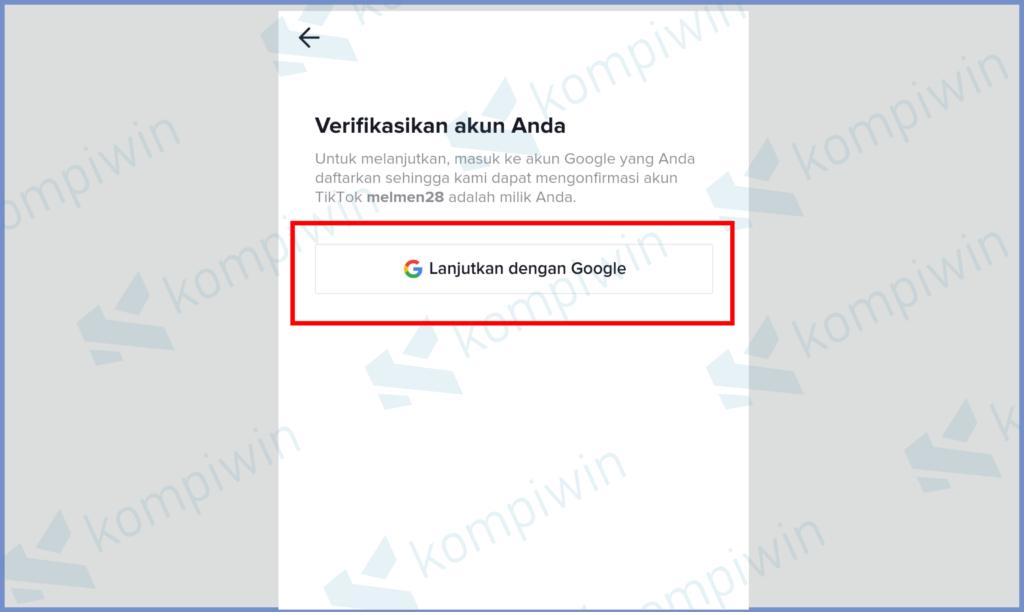 Klik Lanjutkan Dengan Google