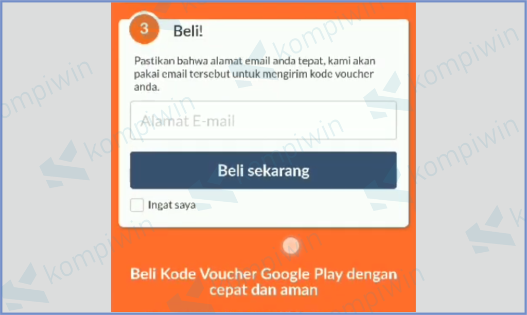 Masukkan Email Milikmu