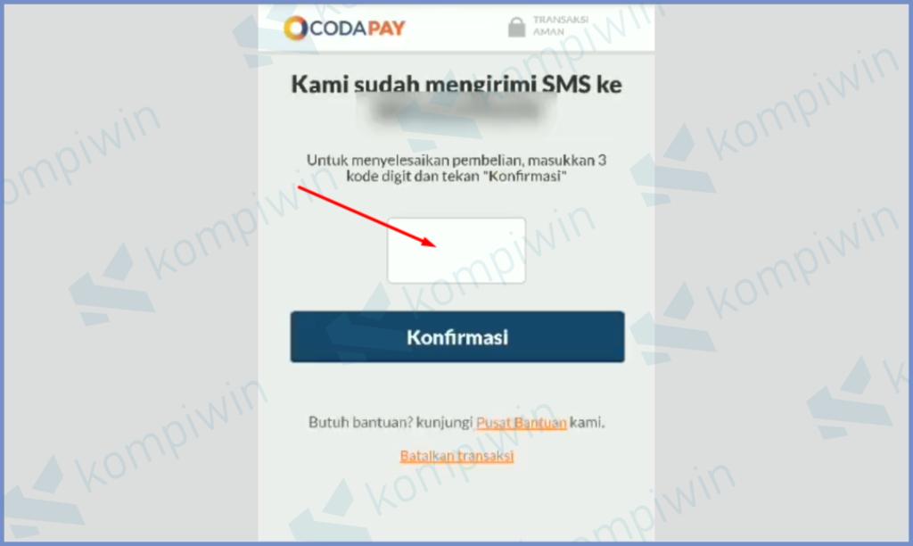 Silahkan Input Kode OTP