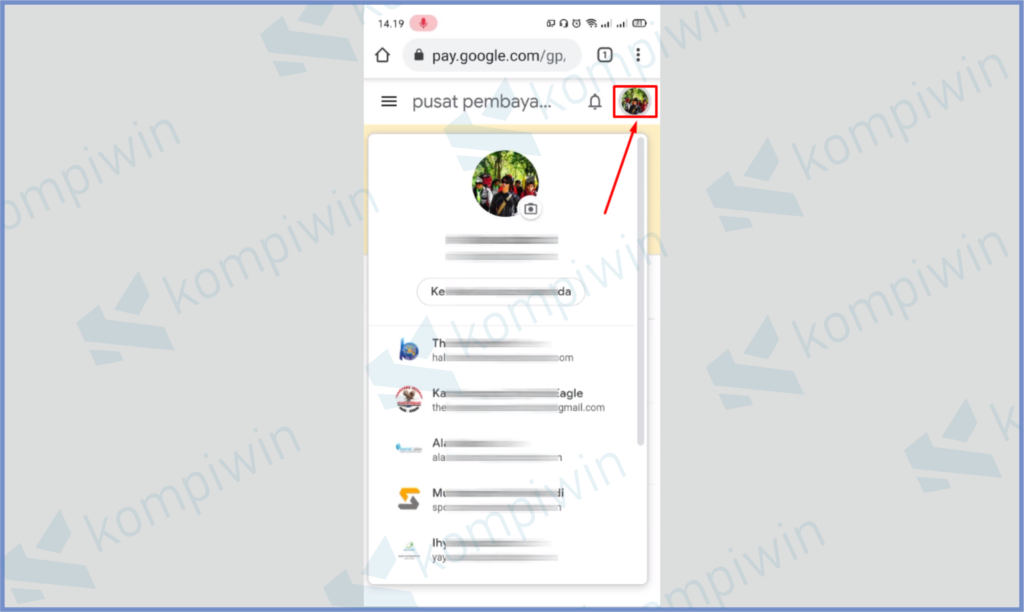 Tap Icon Foto Profil